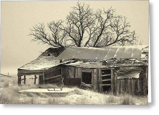 Old Cabins Greeting Cards - Home Sweet Home.. Greeting Card by Al  Swasey