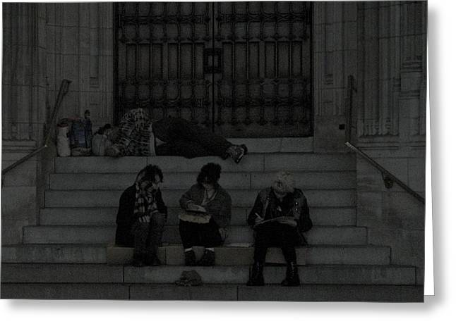 Homeless In The Big Apple Greeting Card by Snow  White