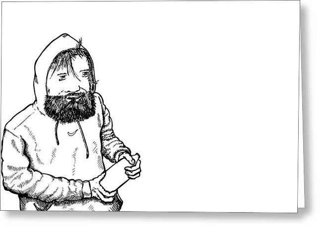 San Fransico Greeting Cards - Homeless Man Greeting Card by Karl Addison