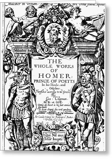 Title Page Greeting Cards - Homer Title Page, 1616 Greeting Card by Granger
