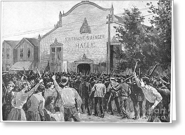 Protesters Greeting Cards - Homestead Strike, 1892 Greeting Card by Granger