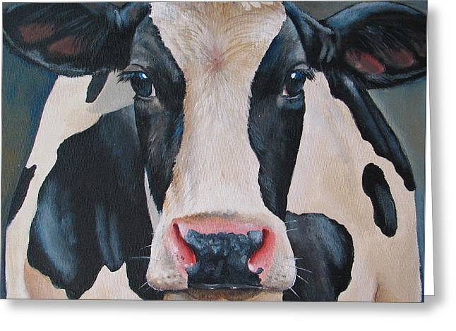 Calf Greeting Cards - Honey Greeting Card by Laura Carey