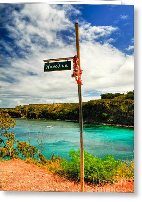 Tropical Photographs Greeting Cards - Honolua Bay Greeting Card by Kelly Wade