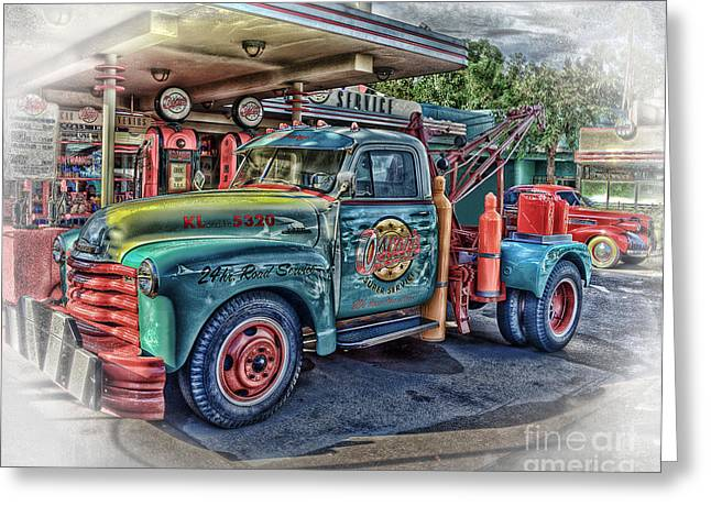 Tow Greeting Cards - Hook Up Greeting Card by Arnie Goldstein