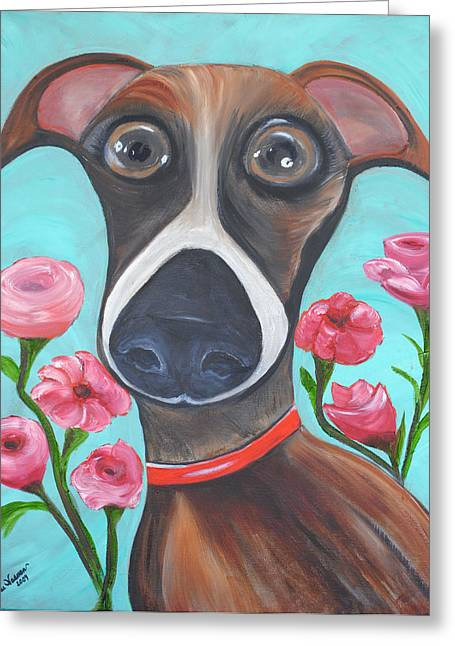 Neutered Greeting Cards - HOOPER Icon for Shelter Dogs Greeting Card by Melanie Wadman
