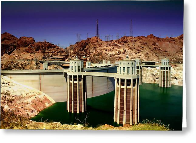 Power Plants Digital Greeting Cards - Hoover Dam Greeting Card by Ellen Heaverlo