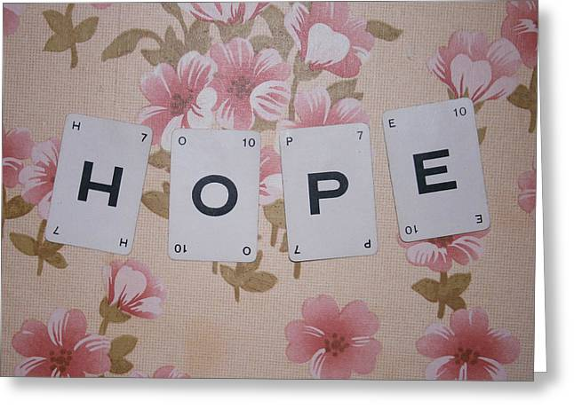 Scrabble Greeting Cards - Hope Greeting Card by Nomad Art And  Design