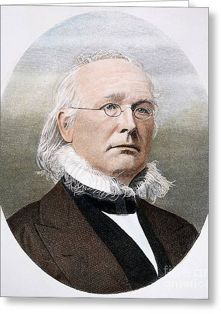 Greeley Greeting Cards - Horace Greeley (1811-1872) Greeting Card by Granger