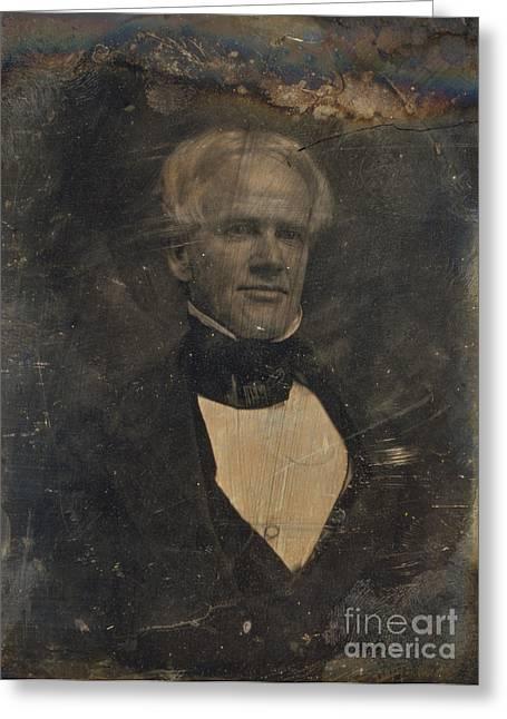 Reformer Greeting Cards - Horace Mann, American Education Reformer Greeting Card by Photo Researchers