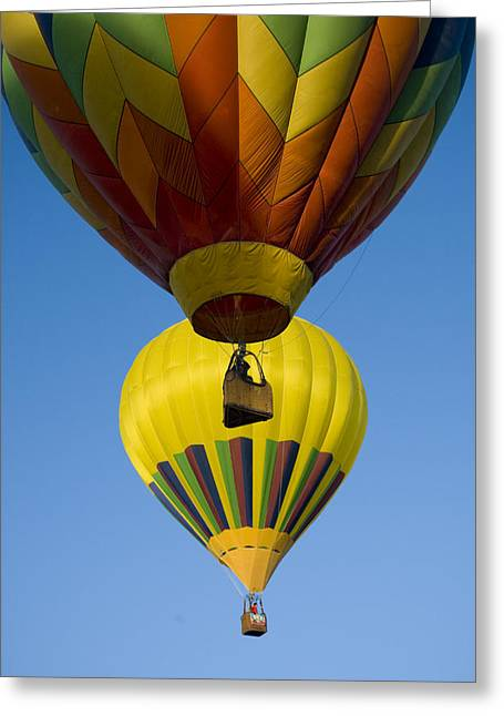 Getting Air Greeting Cards - Hot Air Balloons In A Hot Air Balloon Greeting Card by Ralph Lee Hopkins