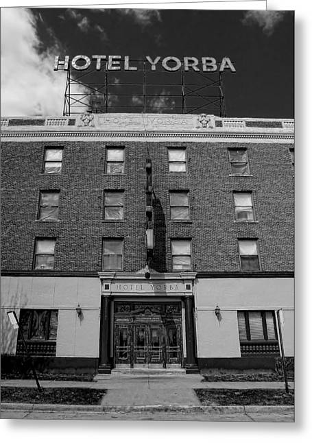 The White Stripes Greeting Cards - Hotel Yorba Greeting Card by Gordon Dean II