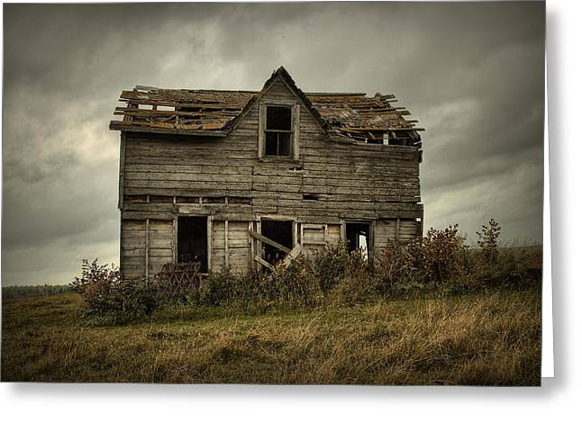 House On The Hill Greeting Card by Heather  Rivet