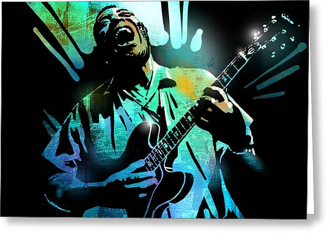 African-american Paintings Greeting Cards - Howlin Wolf Greeting Card by Paul Sachtleben