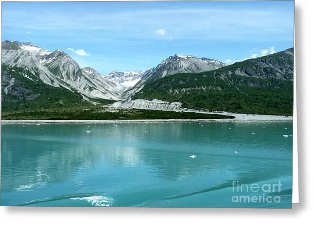 Ocean Photography Greeting Cards - Hubbard Glacier Alaska Greeting Card by Sophie Vigneault