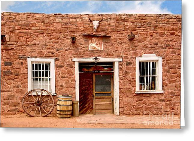 Hubbell Greeting Cards - Hubbell Trading Post - Arizona Greeting Card by Jim Sweida