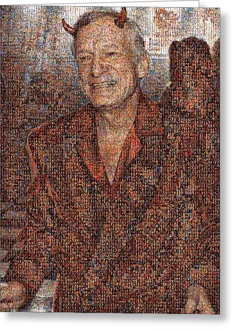 Hugh Hefner Greeting Cards - Hugh Hefner Greeting Card by Denis Chaschyn