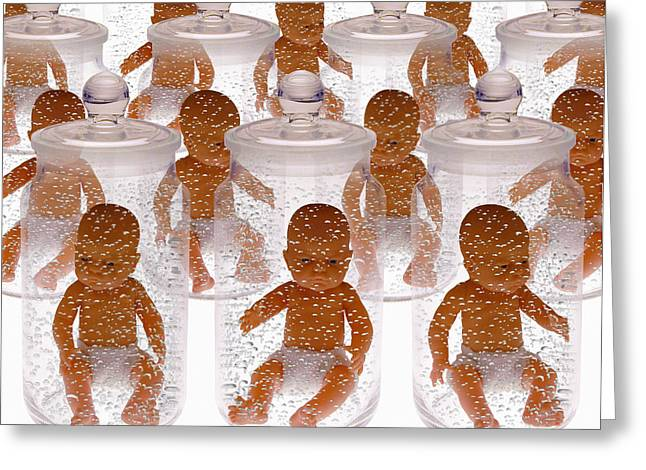 Immersed Greeting Cards - Human Cloning Greeting Card by Victor De Schwanberg