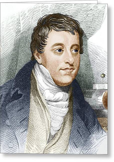European Artwork Greeting Cards - Humphry Davy, English Chemist Greeting Card by Sheila Terry