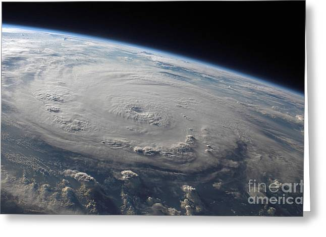 Hurricane Felix Over The Caribbean Sea Greeting Card by Stocktrek Images