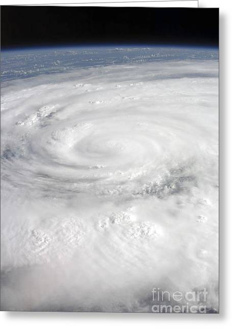 Atlantic Ocean.disaster Greeting Cards - Hurricane Ike Greeting Card by Stocktrek Images