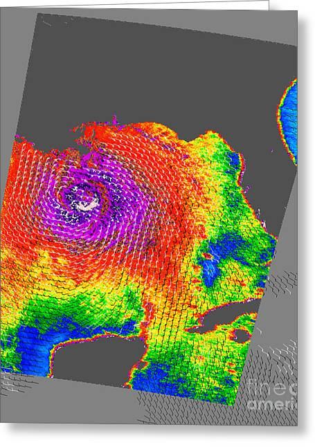 21st Greeting Cards - Hurricane Katrina Greeting Card by NASA / Science Source