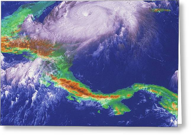 Hurricane Mitch Greeting Card by Nasagoddard Space Flight Center