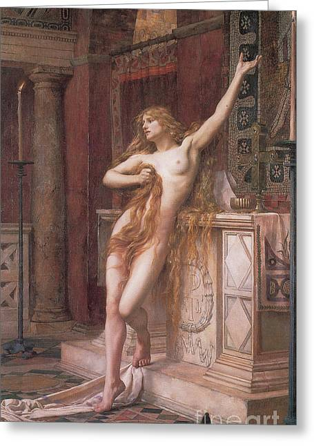 Father And Daughter Greeting Cards - Hypatia Of Alexandria, Mathematician Greeting Card by Science Source