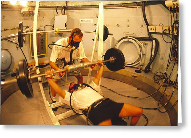 Sporting Equipment Greeting Cards - Hyperbaric Training Research Greeting Card by Alexis Rosenfeld