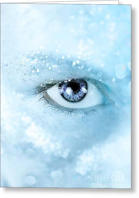 Ice Blue Greeting Card by Stephanie Frey