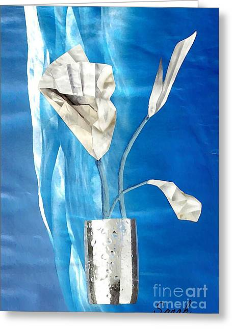 Ice Bouquet Greeting Card by Sarah Loft