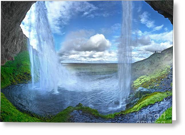Gregory Dyer Greeting Cards - Iceland Waterfall Seljalandsfoss 03 Greeting Card by Gregory Dyer
