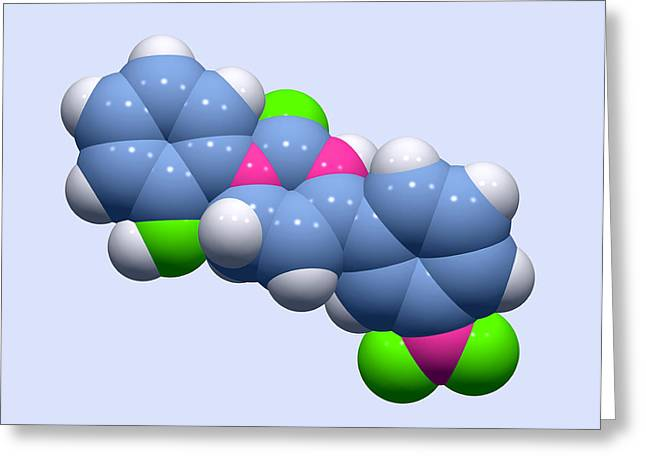 Chemical Compound Greeting Cards - Icilin Cooling Molecule Greeting Card by Dr Tim Evans