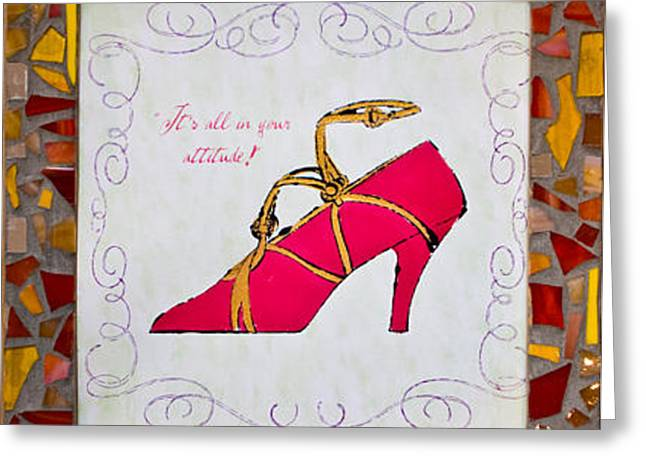 Collection Glass Art Greeting Cards - If the Shoe Fits Greeting Card by Diane Morizio