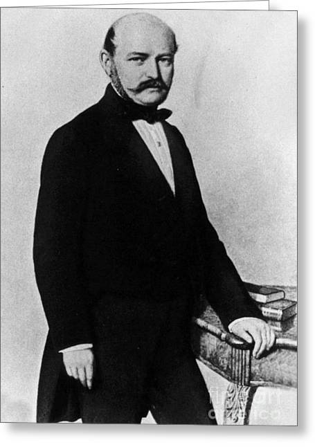 Antiseptic Greeting Cards - Ignaz Semmelweis, Hungarian Greeting Card by Science Source