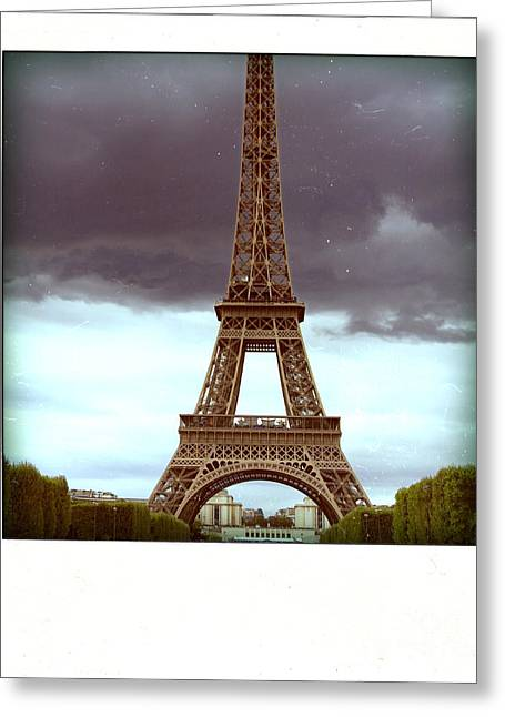 Attractions Greeting Cards - Illustration of Eiffel Tower Greeting Card by Bernard Jaubert