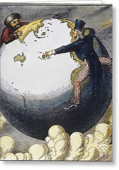 1876 Greeting Cards - Imperialism Cartoon, 1876 Greeting Card by Granger