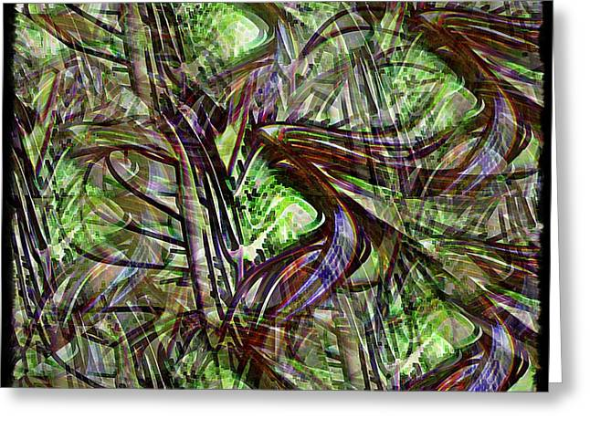"""""""jungle Vines"""" Greeting Cards - In The Jungle Greeting Card by Leslie Revels Andrews"""