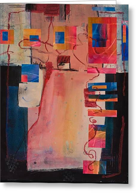 Ultra Modern Mixed Media Greeting Cards - In The Mix Greeting Card by Marie Cummings