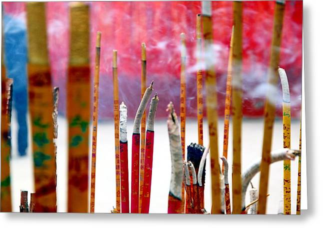 Incense Sticks Greeting Cards - Incense Sticks Greeting Card by Valentino Visentini