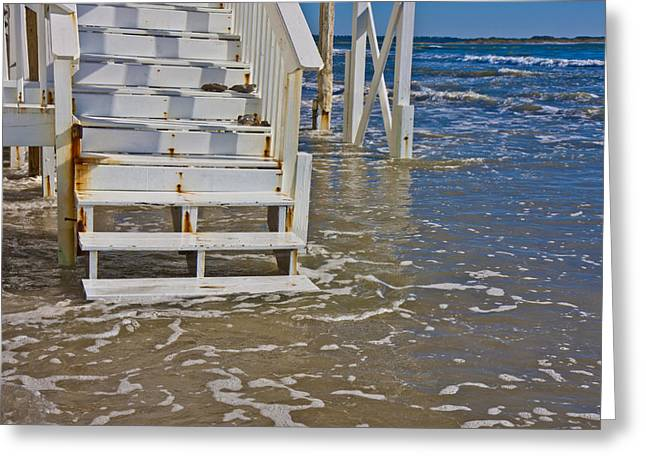 Topsail Island Greeting Cards - Incoming Tide Greeting Card by Betsy A  Cutler