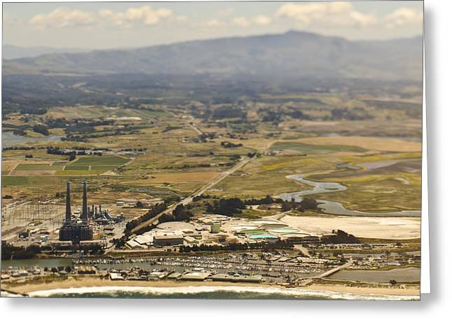 Moss Landing California Greeting Cards - Industrial Plant on the Coast Greeting Card by Eddy Joaquim