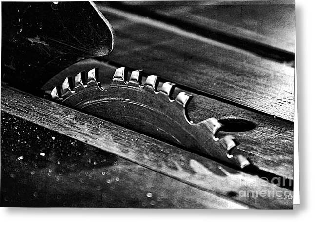 Saw Blade Greeting Cards - Industrial Saw  Greeting Card by Scott Pellegrin
