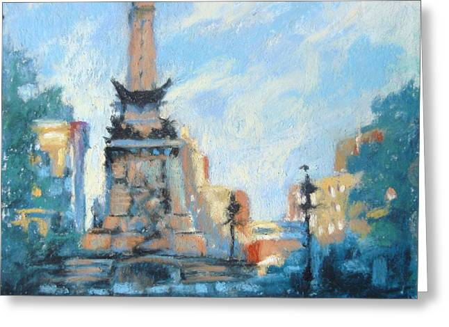 Indy Circle Day Greeting Card by Donna Shortt