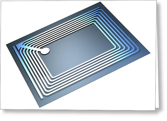 Epc Greeting Cards - Intelligent Label Chip Greeting Card by Pasieka