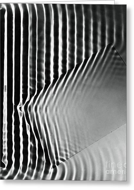 Interference Greeting Cards - Interference Waves Greeting Card by Berenice Abbott