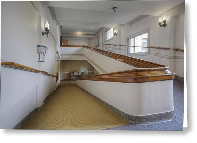 Residential Structure Greeting Cards - Interior Hall And Stairs Of A Large Greeting Card by Douglas Orton