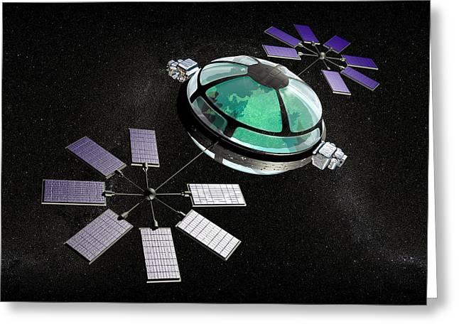 Interstellar Travel Greeting Cards - Interstellar Spaceship Greeting Card by Christian Darkin