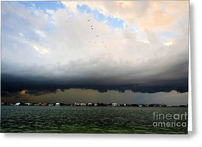 Summer Storm Digital Art Greeting Cards - Into the storm Greeting Card by David Lee Thompson