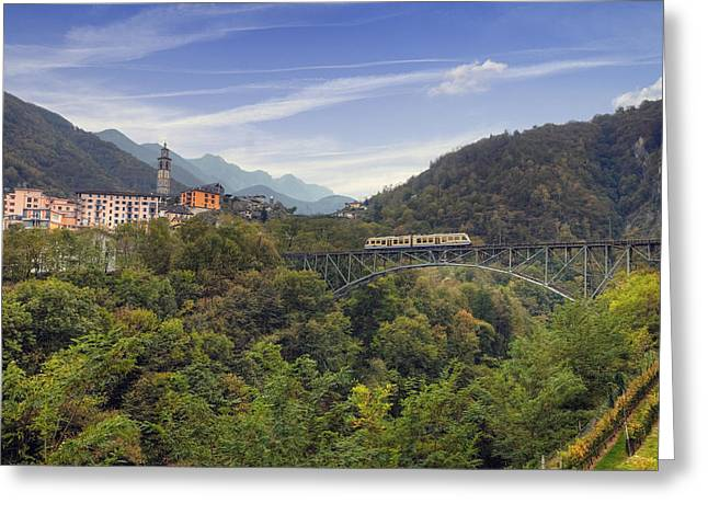 Gauge Greeting Cards - Intragna - Ticino Greeting Card by Joana Kruse
