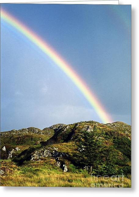 Rainbow Greeting Cards - Irish Rainbow Greeting Card by John Greim